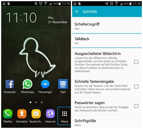 android talk back android smartphones talkback deaktivieren freeware de