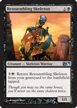 mtg reassembling skeleton deck recoculous magic the gathering articles 187 drafting
