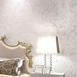 Europe Elegant Acanthus Leaf Non woven Wallpaper Wall ...