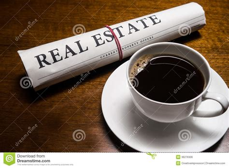 Real Estate Newspaper, Cup Of Coffee Stock Photo Hot Coffee Vs Iced Caffeine Price Gin Gins Yeti Stainless Mug Where To Buy Vodka Flavors At Starbucks Wholesale