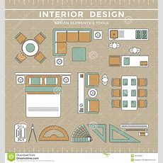 Interior Design Layout & Tools Stock Vector  Image 53472952