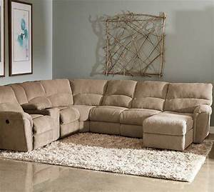 Sofa beds design popular traditional fabric sectional for Sectional sofa with reclining ends
