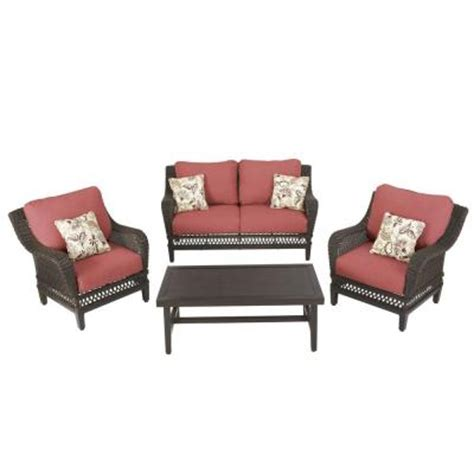 hton bay woodbury 4 patio seating set with