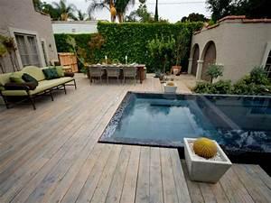 kleine garten gestalten platzsparende ideen With französischer balkon mit kleiner garten mit pool gestalten
