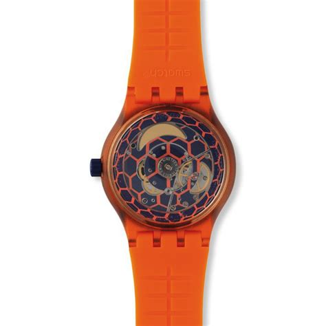 swatch seri aotomatic swatch automatic sistem51 orange sistem tangerine model