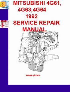 Mitsubishi 4g61 4g63 4g64 1992 Service Repair Manual