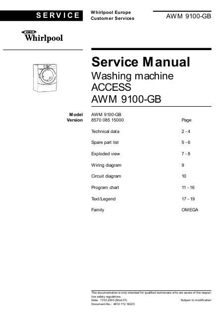 lave linge en anglais manuel de service whirlpool awm 9100 awm9100 lave linge anglais t 233 l 233 charger pdf zip