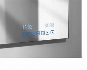Miroir multimedia affichage digital tuner radio integre for Miroir salle de bain avec radio