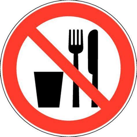 manger au bureau panneau d 39 interdiction interdit de manger et boire adhésif