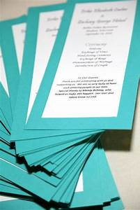 Menu Template Free Word One Page Wedding Program Template Wedding Programs