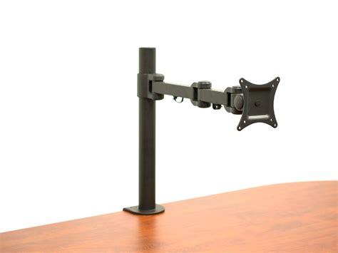 computer monitor desk mount vivid av 13 to 27 single monitor desk mount computer