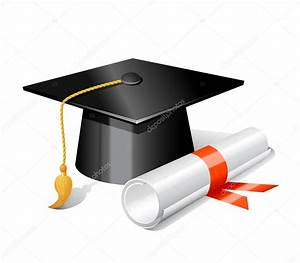 Graduation cap and diploma — Stock Vector © colorlife #7624441