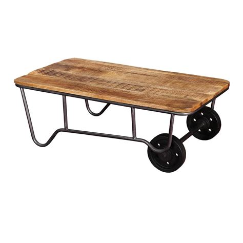 Industrial Rustic Mango Wood & Iron Rolling Coffee Table. Gamer Desk. Carved Wooden Drawer Pulls. 24 Inch Desk. Lazy Susan For Patio Table