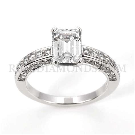 wg chopard ring ct emerald cut rich diamonds