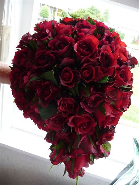 red rose bridal bouquets images  pinterest