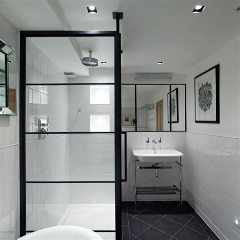 glass shower screen black frame showers sophisticated with modern industrial