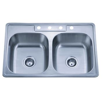 european kitchen sinks stainless steel dowell topmount stainless steel double bowl kitchen sink