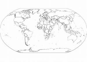 Best Photos of Black And White World Map Outline - Black ...