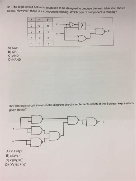 Solved The Logic Circuit Below Suppsed Designed