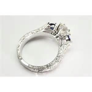 vintage sapphire wedding bands 40223297 vintage pave blue sapphire engagement ring diamonds