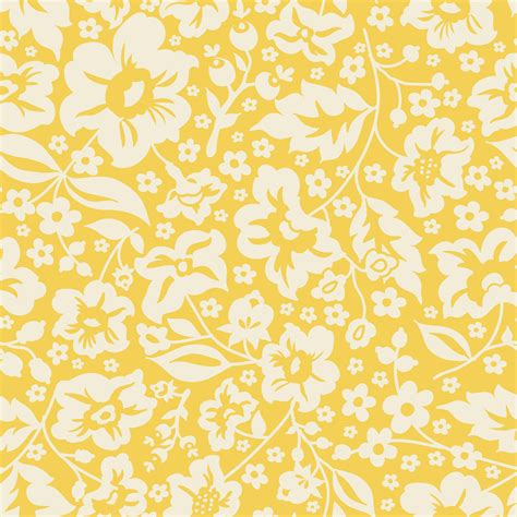 yellow flower design yellow fabric pattern