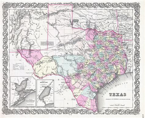 large detailed  administrative map  texas state