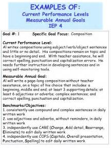 Performance Goals and Objectives Examples