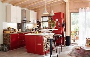 cuisine rouge 10 bonnes raisons de craquer marie claire With exceptional meuble de cuisine en bois rouge 4 petit ilot central de cuisine cuisine en image