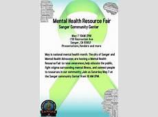 Mental Health Resource Fair The Sanger Scene