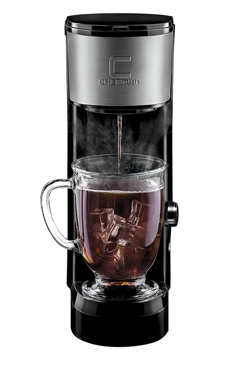 It has some basic features that make brewing easy and simple, like a water window so you don't have to worry about overfilling and a pause button that. Chefman Pod Coffee Maker K-Cup InstaBrew Brewer