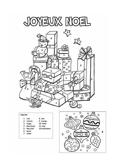 French Colouring Christmas Numbers Tes Teaching Resources
