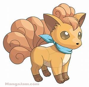 How to Draw Vulpix from Pokemon - Mangajam.com