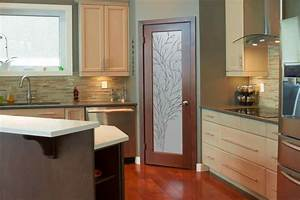 kitchen glass doors home design With best brand of paint for kitchen cabinets with glass flower wall art