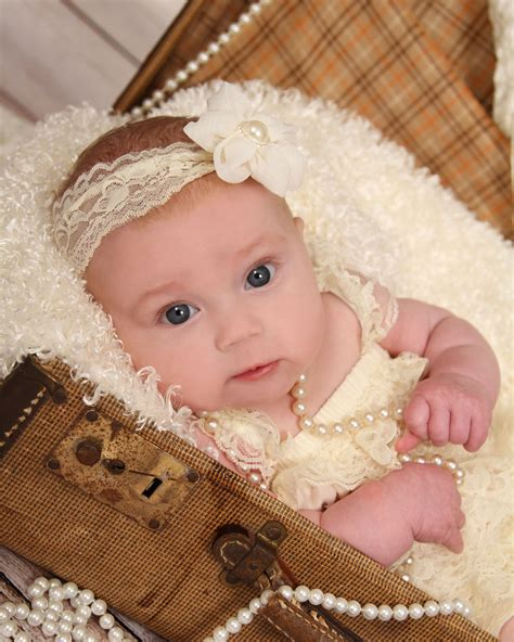 baby portraits  month  girls vintage sarah lloyd