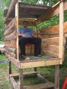 homemade deer blind plans ideas home  house