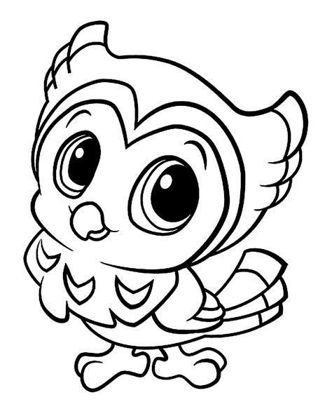 mewarnai gambar burung lucu untuk anak paud dan tk