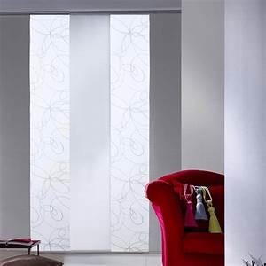 Panneau Rideau Japonais : panneau japonais zig zag blanc x cm leroy ~ Zukunftsfamilie.com Idées de Décoration