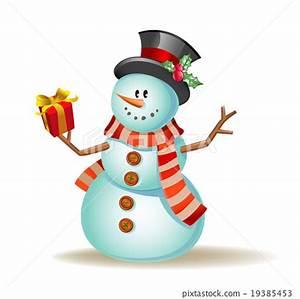 Cute cartoon snowman - Stock Illustration [19385453] - PIXTA