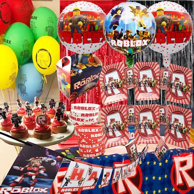 roblox cup plate banner bracelet party supplies balloon