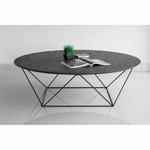 Table Basse Ronde Industrielle : table basse industrielle ronde ~ Teatrodelosmanantiales.com Idées de Décoration