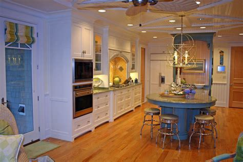 round kitchen islands Kitchen Contemporary with gray