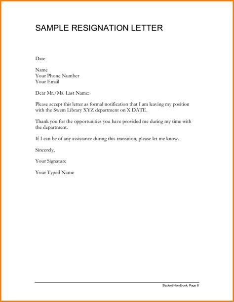 writing  proper resignation letter mla format