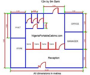 cabin blueprints microfinance bank construction nigeria portable