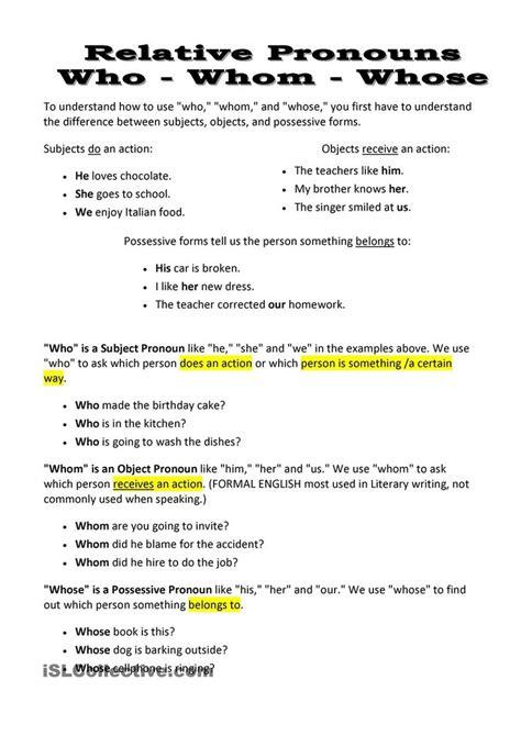 relative pronouns    relative pronouns