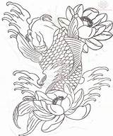 Koi Fish Coloring Pages Realistic Print Mermaid sketch template
