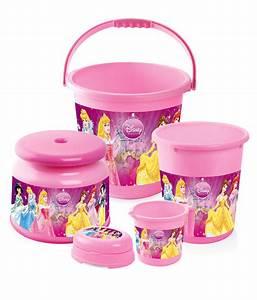Joyo disney kid39s special bathroom set princess 5 pcs for Disney princess bathroom set