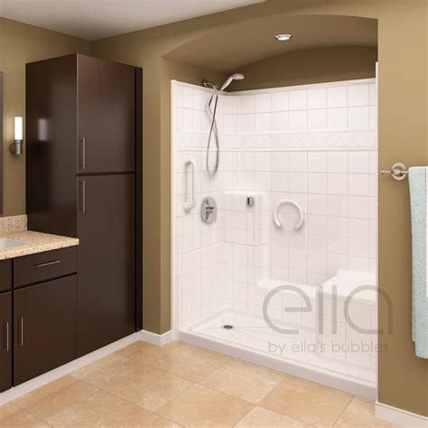 3 Shower With Seat by Prestige Multi Low Threshold Shower With Molded Seat