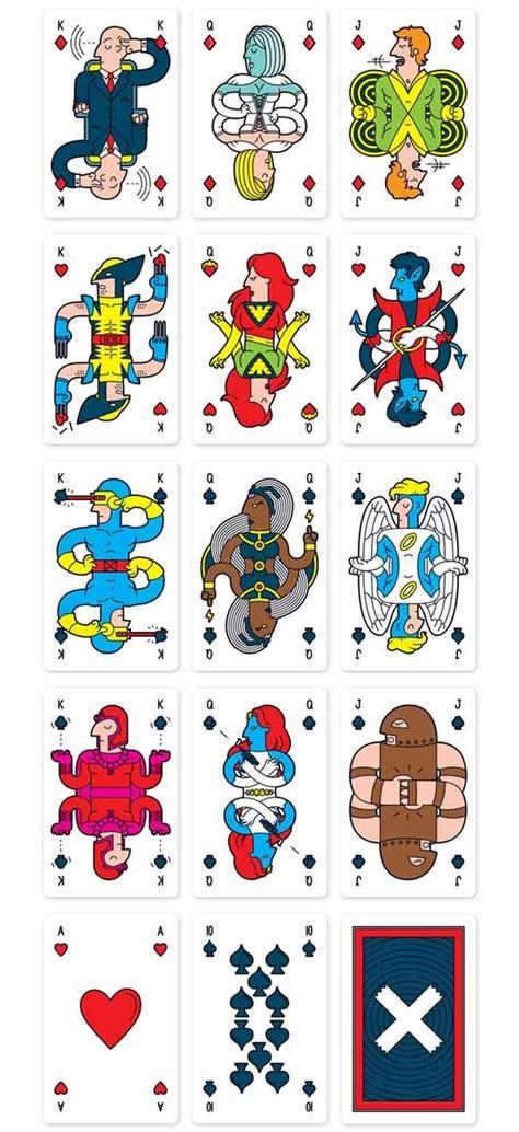 lovely custom  men playing cards sci fi design