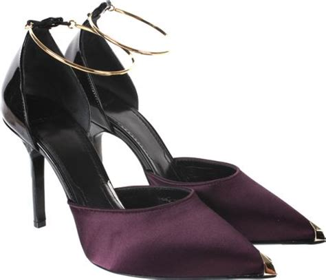 plum colored shoes givenchy plum colored satin and shiny black leather court