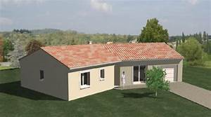 plan maison plain pied 86 With exceptional plan maison en u ouvert 1 plan de maison contemporaine amazone